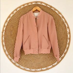 Aritzia Wilfred Poussin Bomber Jacket Pink
